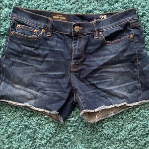 J. Crew indigo denim cutoff shorts